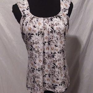White House black market sleeveless business shirt